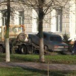 Возле школы №3  30 ноября было выставлено оцепление