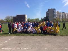 Чиновники сыграли в футбол