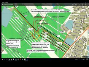 Схема газопровода на Сарматской