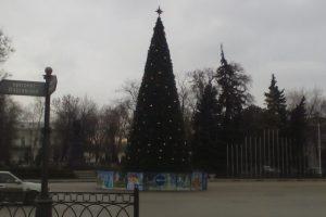 Почти во всех микрорайонах Новочеркасска есть свои новогодние елки