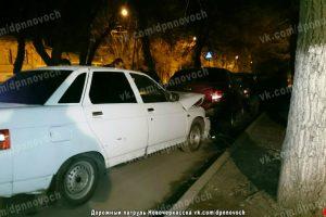 Пьяный водитель протаранил в Новочеркасске попавшиеся на дороге машины